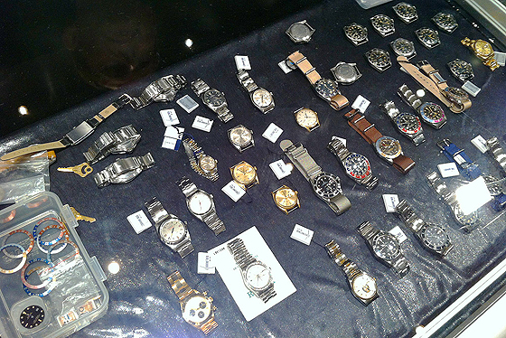 Vintage watches on table