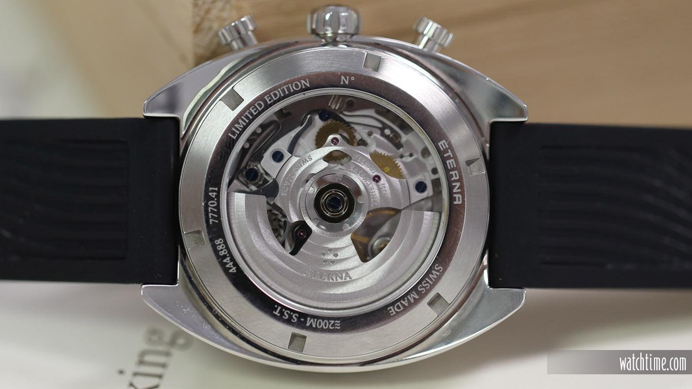 Eterna Super KonTiki Chronograph - Black Dial - Caseback