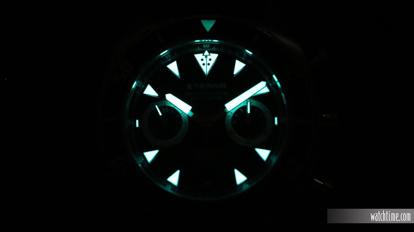 Eterna Super KonTiki Chronograph - Black Dial - Lume