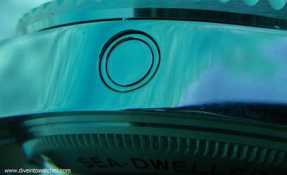Rolex Sea-Dweller Deepsea Helium Valve - submerged