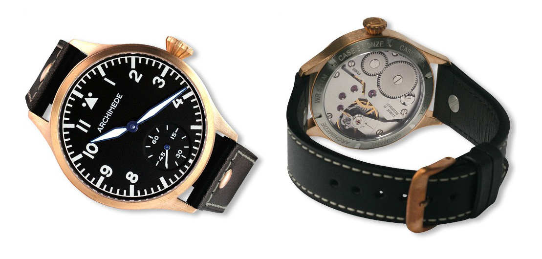 Pilot 42 KS Bronze black dial black band watch