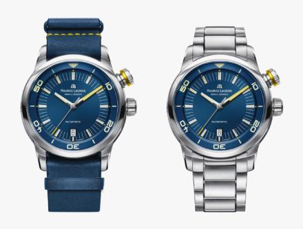 Blue Devil blue and steal strap wristwatch