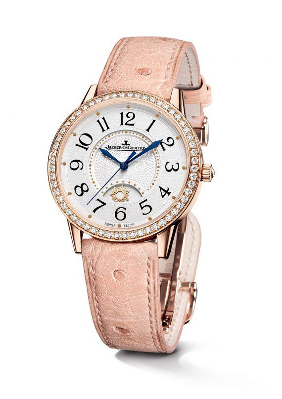 Jaeger-LeCoultre Rendez-Vous Night & Day Large, rose gold with ostrich strap