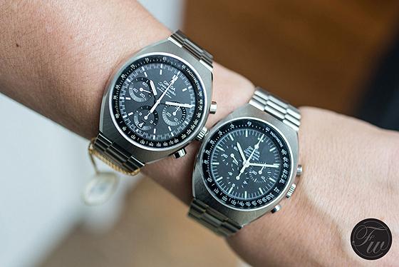 Omega Speedmaster Mark II vintage vs. new - on wrist