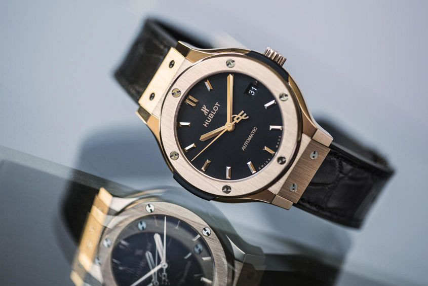 Hublot epitomises elegance with the Classic Fusion King Gold