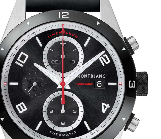 new Montblanc TimeWalker Chronograph Automatic dial