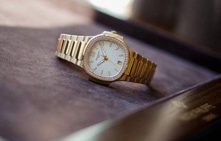 Patek Philippe Nautilus Ladies Automatic Ref 7118 Diamonds Rose Gold