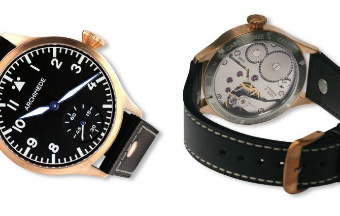 Pilot 42 KS Bronze black dial black band watch