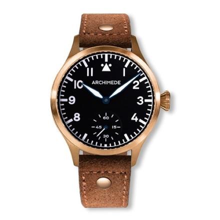 Pilot 42 KS Bronze black dial brown bandwatch