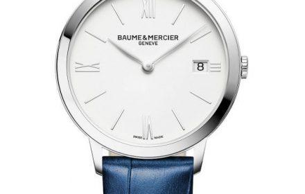 Mercier blue band wristwatch Front