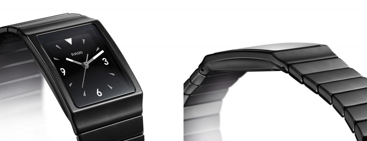 rado wrist black dial wrist watch