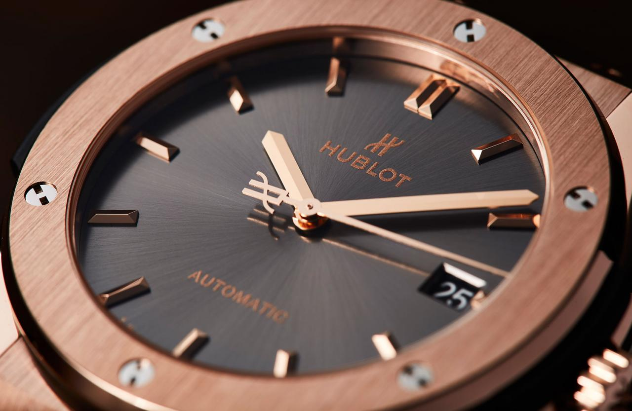 the Hublot Classic Fusion Racing Grey in King Gold