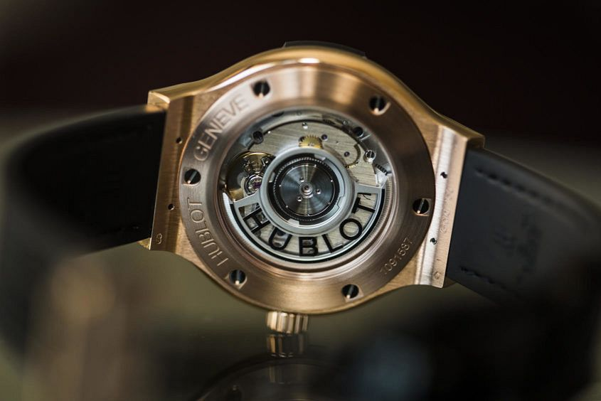 Hublot epitomises elegance with the Classic Fusion King Gold movement