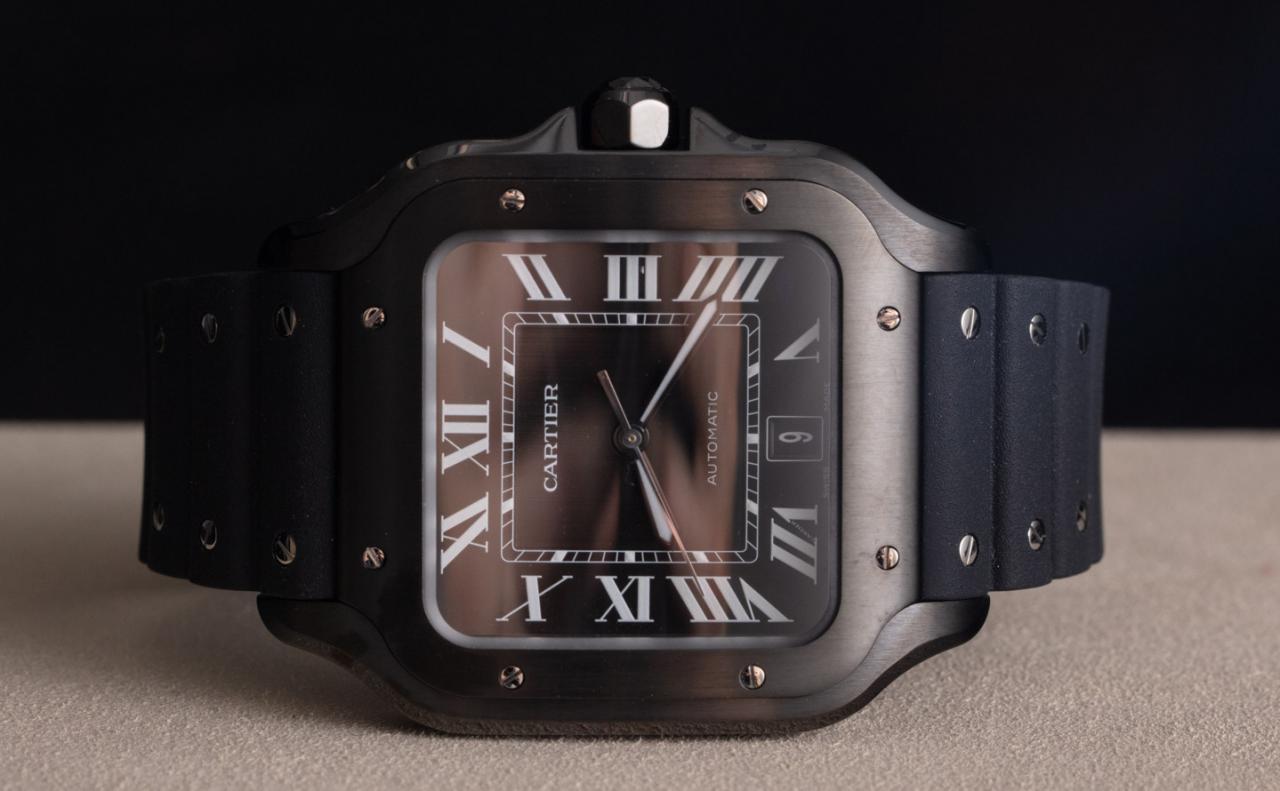 Hands-On: Cartier Santos Black aDLC WSSA0039 Watch Hands-On