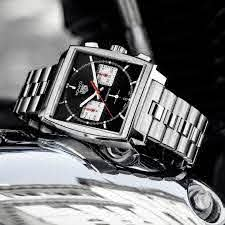 Silver TAG Heuer watch